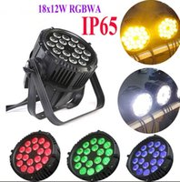 Wholesale Rgbaw Led Lights - Free shipping High quality 18X12W Silent IP65 Waterproof RGBAW 4in1 LED Par Light Outdoor LED Lighting MYY