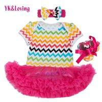 Wholesale Striped Infant Tutu - Newborn baby Girl Clothes Kid Bodysuit Cotton Striped Jumpsuit Short Sleeve Lace Infant Tutu Bodysuit Dresses Summer Dress High Quality Z448