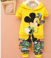 Wholesale Kids Hooded Sweaters - New Arrival Baby Suits 2017 Autumn Sports Girls Boys Brand Suits Kids Cotton Hooded Sweater+Pants Suits Newborn babies Clothing