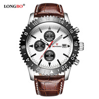 Wholesale Military Leather Watch Bands - 2017 Hot Sale Mens Watches Top Brand Luxury Leather Band Quartz Military Watches Men Army chronograph Watch Male Clock relogio masculino