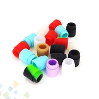 Wholesale cigarette test resale online - Colorful TFV12 TFV8 Disposable Silica Gel Drip Tip Rubber Test Silicone Mouthpiece E Cigarette fit TFV8 BIG BABY DHL Free