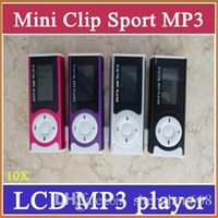 Wholesale clip mp3 player memory online - SH Mini Clip MP3 Sport Music player With LCD Screen Support Micro TF SD Memory Card USB Cables Earphones Come With Crystal Retail Boxes A MP