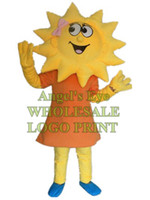 Wholesale Mascots Costumes Flowers - yellow sunflower mascot costume flower girl custom adult size cartoon character cosply carnival costume 3253