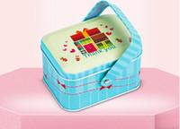 süßigkeiten boxen europa großhandel-Neue Art und Weise Europa bewegliches Weißblechplätzchenkasten-Süßigkeitskasten 105 * 77 * 60mm 12 Art stilvolles und elegantes kleines Geschenk