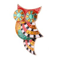 Moda Multicolor Animal Coruja Brooch Pins Bonitinho Mulheres Gift Scarf Buckle Charm Clip Broches Fashion Enamel Pins Jóias