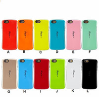 Wholesale Iface Cover Case - iFace mall Bicolor wave silicon case For iphone 7 7 plus 6S 6 Plus 5S shell protector cell phone skin Case back Cover