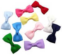 """Wholesale Diy Tie Clip - 1.25"""" Solid Grosgrain Mini bow tie Diy Hair Accessories 100pcs (No Clip)"""