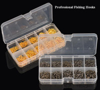 Wholesale Fish Tackle Boxes - 600pcs lot Carbon Steel Fishing Hook Jig Hooks Fishhooks with Hole Fish Fly Fishing Tackle Box 3# -12# 10 Sizes Available out228