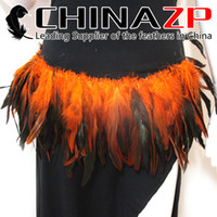 Wholesale Wholesale Cheap Chicken - Leading Supplier CHINAZP Crafts Factory Cheap Wholesale 800 pieces per lot Colorful Dyed Orange Half Bronze Rooster Chicken Feather Strung