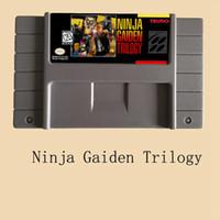 Wholesale Ninja Cards - New Brand Ninja Gaiden Trilogy 16 bit Big Gray Super Game Card For NTSC Game Player