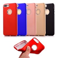 Wholesale Galaxy Camera Hard Case - Soft TPU Metal Paint Case for IPhone 6 6S 7 Plus For Samsung Galaxy S8 Plus with Hard Plastic Camera Protector Buttons Key