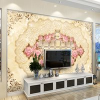 Wholesale Flower Wallpapers High Quality - High quality 3D photo wall mural Art Wall living room textile wallpaper Home improvement flower arch bridge porch paper wall