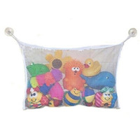 Wholesale Plastic Mesh Bags - 35*45cm Folding Mesh Toy Storage Bag Eco-Friendly Baby Bathroom Mesh Bag Child Bath Net Bag Suction Cup Baskets Organizer Bags