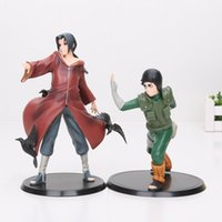 Wholesale Naruto Pvc Set - Naruto Rock Lee VS Uchiha Itachi PVC Figures Collectible Model Toys 2pcs set