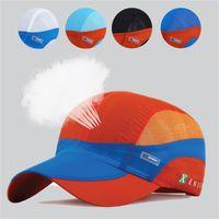 Wholesale Uv Sun Cream - Wholesale- Summer quick-dry baseball cap breathable mesh sun sport hat lightweight outdoor hunting running fishing UV man women gorras bone