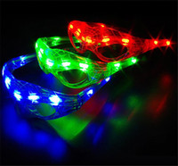 Wholesale Halloween Novelties Glasses - Hot Spiderman LED Light Flashing Glasses Gift Cheer Dance Mask Christmas Halloween Days Gift Novelty LED Glasses Led Rave Toy Party Glasses