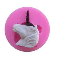 Wholesale Jelly Rubber Rings - Unicorn fondant cake chocolate cake bakeware DIY bakeware jelly puddingmousse ring mold cookie mold Free Post