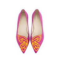 Wholesale Butterfly Mouth - 2017 Spring and Summer Flat Shoes Pointed Shallow Mouth Slip-on Casual Women's Shoes with Butterflies Wings Pattern Decoration