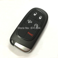 Wholesale Car Remote Replacement Cases - New style replacement smart car key fob case cover for dodge jeep chrysler 4+1 buttons with key blade