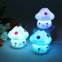 Wholesale Children S Mushroom Toys - LED Night Lights Indoor Lighting Mushrooms colorful night light toys creative children 's room luminous small toys novelty 1382