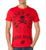 Wholesale Mens Polka Dots Shirt - Original German Brand PP t shirts for men Fashion Short Sleeve 100% Cotton poloshirt shirt men Skull hip pop Designer mens t shirts