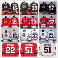 Wholesale White Campbell - High Quality Mens Chicago Blackhawks 16 Marcus Kruger 33 Scott Darling 51 Brian Campbell 57 Trevor Van Riemsdyk Hockey Jersey Stitched Logos