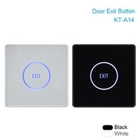Wholesale Exit Buttons - Wholesale- Thin Touch Exit Button Infrared Sensing Surface Plexiglass Waterproof LED Indicator Door Exit Switch For Access Control system