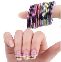 Wholesale Line Nail Art Tips Decoration - Mixed Colors Rolls Striping Tape Line Nail Art Tips Decoration Sticker beauty Decoration Sticker Nails Care Art Accessories