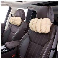 Wholesale Cotton Bread Pad - Soft Car Neck Pillow Bread Shape Fluffy Rest Pillow 5 Colors Relieve Fatigue Head Rest Car Accessories PP Cotton Padding Breathable