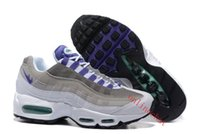 Wholesale Designer Boots Free Shipping - New Designer Airs Men 95 Sport Slate OG White Emerald Green Blue Sneakers Boots Man Running Shoes Size EUR 40-46 Free Shipping