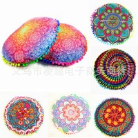 Wholesale Round Pillow Cases - 11rc Gradient Flowers Mandala Cushion Covers Digital The New Pillows Cases Round Cushions Cover For Home Pillow Case Europe