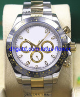 Wholesale Oval White Sapphire - 2017 Hot Top luxury automatic movement 40mm 116503LN mens watches Wristwatch white dial