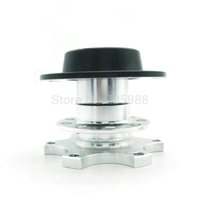Wholesale Quick Release Snap - Silver Universal Steering Wheel Quick Release HUB 100% Brand NEW Adapter Snap Off Boss Kit