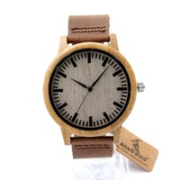 Wholesale Watch Covers Leather Bands - Top Brand Watch Bamboo Wooden Watch Brown Genuine Leather Bands Strap White Cover Bamboo Wood Automatic Watches for Men Women SY-WD256