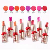 Wholesale Sexy Kisses Lips - BIOAQUA Sexy Lipstick Beauty Women Waterproof Moisturizing Lip Cream Cosmetics Make Up Kiss of Charm with 8 Colors Maquiagem