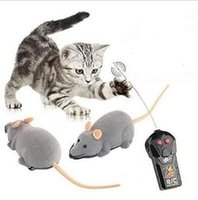 Wholesale Toy Electronic Wireless - 3 Colors Remote Control Electronic Wireless Rat Mouse Cat Pet Gift Funny Toy Mourse Ears Random CCA6852 50pcs