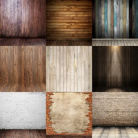 Wholesale Vintage Photography Backgrounds - wholesale custom 5x7FT brick wall vintage wood backdrops studio camera digital vinyl photography background backdrop for baby photos props