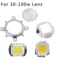 Grossiste-1Set Haute Qualité 30W 50W 100W LED 44mm lentille optique + Reflector Collimateur + Fixed Bracket 60 angle pour 100w intégration cob led