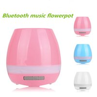 Wholesale Hot sales smart flowerpot sensor Bluetooth speaker Flower pot Plastic Green plant pots decorative Macetas pot Playing Smart Music