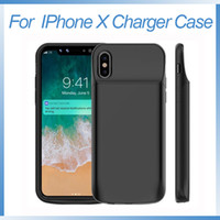 Wholesale iphone portable charging case online – for iPhone X Battery Case mAh Portable Rechargeable Extended Charger Case for iPhone X Protective Battery Pack Charging Case