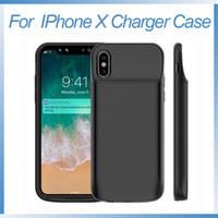 ingrosso estese batterie-per iPhone X Battery Case 6000mAh Custodia ricaricabile per caricabatterie portatile estesa per iPhone X 10 Custodia di ricarica per batteria ricaricabile