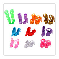 Wholesale Doll Shoes For Kids - Wholesale Mini Dolls Shoes New Different Doll Shoes Boots Accessories For Barbie Dolls Multi Color Baby Girl Toys Kids Gift Free DHL