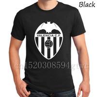 Wholesale Crew Neck Bat Sleeves - A mano di Alta qualità Spagna Valencia Club Espana Valencia CF Tees T-Shirt Camiseta T Shirt bat reggimento Los Ches Parejo fans