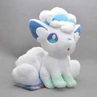 """Wholesale Vulpix Plush Doll - Hot New 8"""" 21CM Alola Vulpix Poke Doll Pocket Monster Kid's Anime Collectible Toy Plush Party Birthday Gifts Soft Stuffed Toys"""