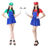Wholesale Super Mario Overalls - 2017 new Halloween super Mario game animation Mario overall modelling under cosplay water electrician cosplay uniform