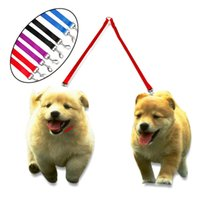 Nuevo Doble Doble Acoplador Doble 2 Way Nylon Dog Pet Leash Puppy Leads