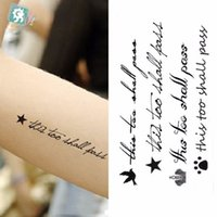 Wholesale Tattoo Stickers For Body Letters - Wholesale- Waterproof Temporary Tattoo Sticker on body sexy fly bird with English letters for girl Water Transfer fake tattoo flash tattoo