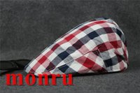 Wholesale Red Military Peaked Cap - New Summer Cotton Berets Caps For Men Casual Peaked Caps Solid color Berets Hats Casquette sun Cap
