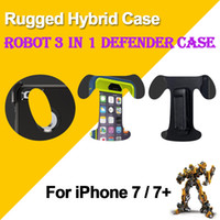Wholesale Robot Defender - For i7 Robot 3 in 1 Defender Case Rugged hybrid Cases For iphone 7 6s 6 5s plus samsung s6 s7 edge note 4 5 with Belt Clip opp package