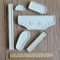 Wholesale China Sneakers Shoes Wholesale - Baby Shoes DIY Cake Fondant Mold High Cut Sneaker Fondant Cake Decorating Baking Tool Mould Cake Tools Accessories 2sets Free china post
